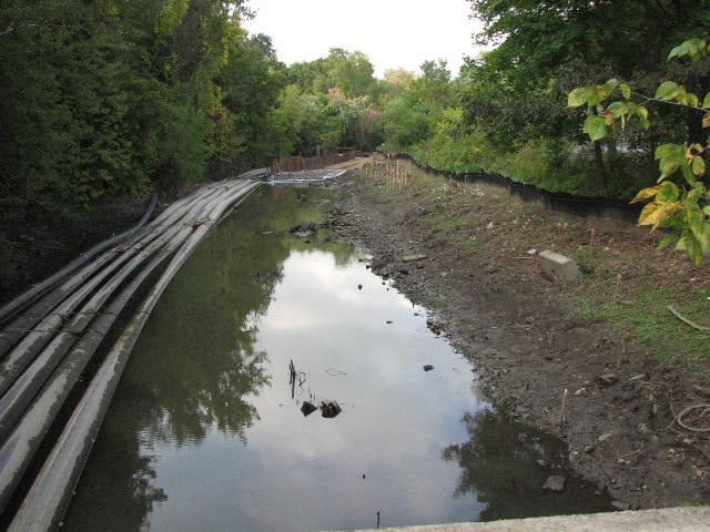 A stretch of the Housatonic River under remediation.