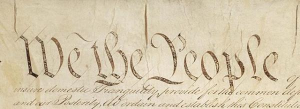 Detail of preamble to U.S. Constitution