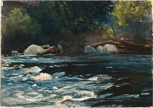 Winslow Homer: The Rapids, Hudson River, Adirondacks