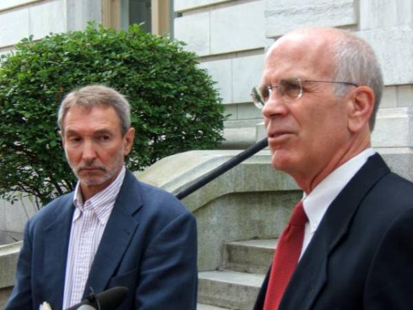 ACLU Vermont Executive Director Allen Gilbert (left) and Vermont Congressman Peter Welch