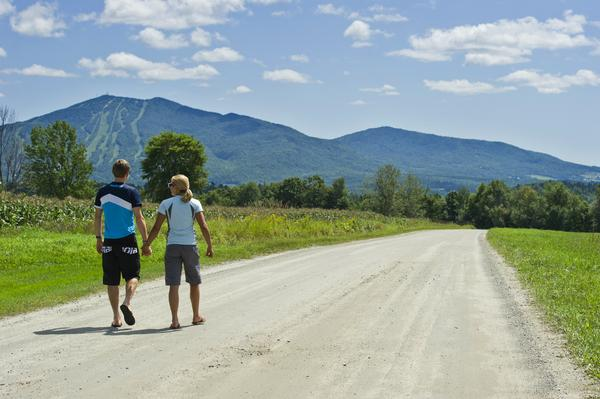 Walking in Burke Hollow - Photograph by Dennis Curran
