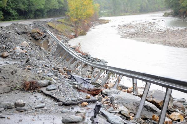 The aftermath of Hurricane Irene in Central Vermont, seen on Sept. 5, 2011. (U.S. Army photo by Staff Sgt. Jim Greenhill)