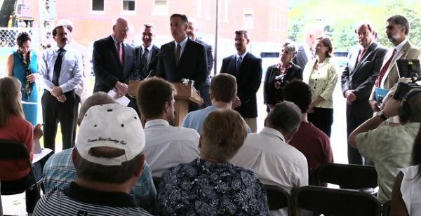 Governor Peter Shumlin announces funding for Waterbury State Office Complex