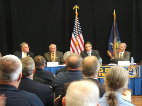 Governor Andrew Cuomo with Jay-Keene NY Rising Committee 9-4-13