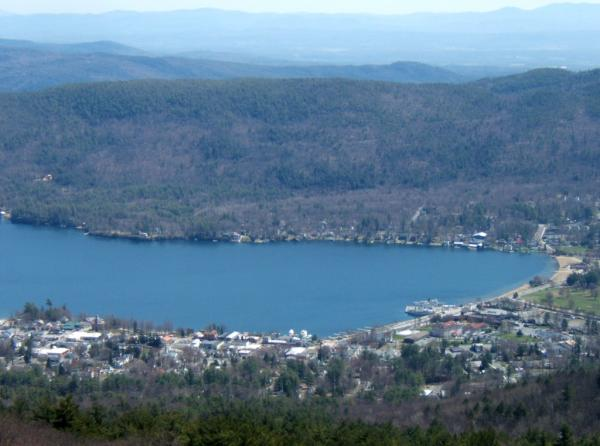 View of Lake George and Million Dollar Beach