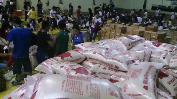 Bags of rice will soon be given to needy storm victims in Tacloban City.