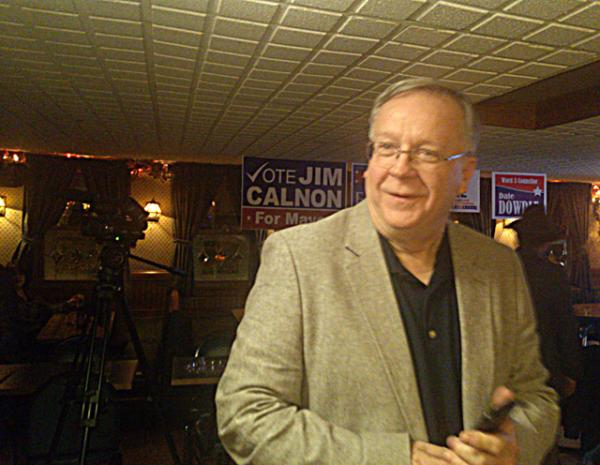 Jim Calnon at election night campaign headquarters.