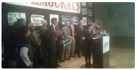 Kathy Sheehan gives her victory speech on Election Night 2013.