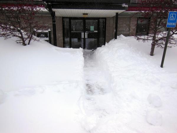 Snow accumulation March 13, 2014