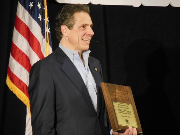Governor Andrew Cuomo at Adirondack Winter Challenge awards