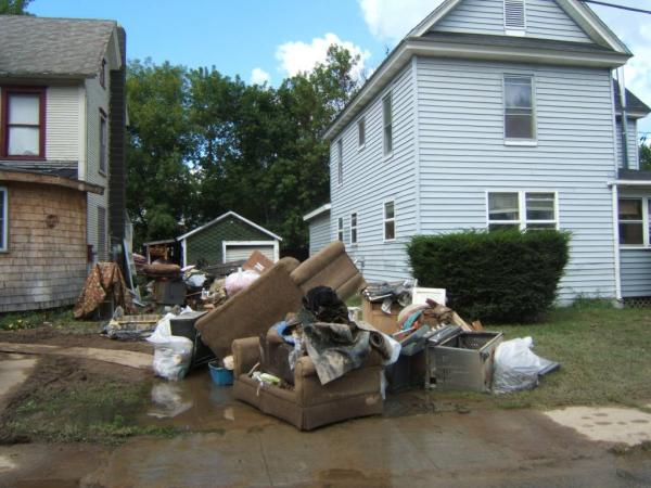 Irene damage in Ausable Forks NY