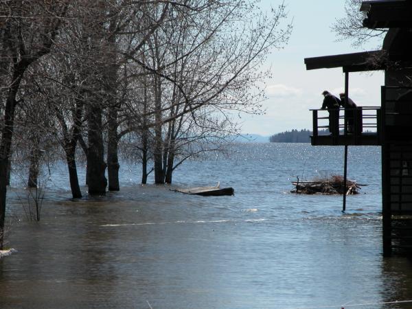 Spring flooding 2011 Clinton County NY