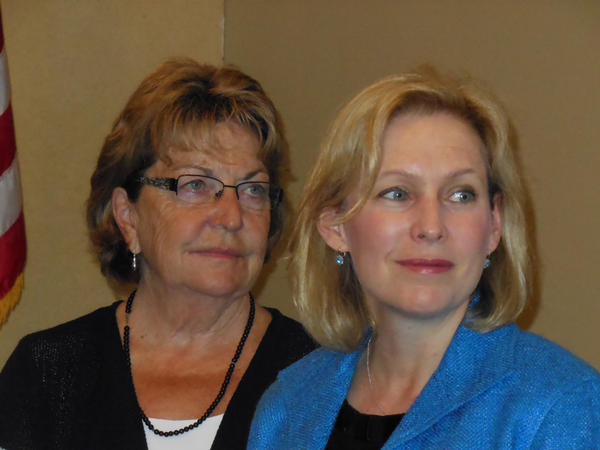 State Senator Betty Little (left) and NY Senator Kirsten Gillibrand at the Lake Placid Beach House July 28, 2014