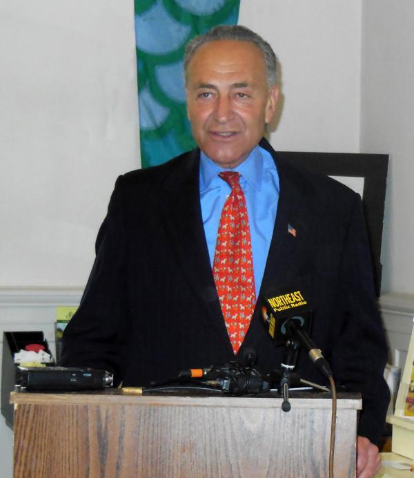 Senator Charles Schumer in Saranac Lake 8-15-14