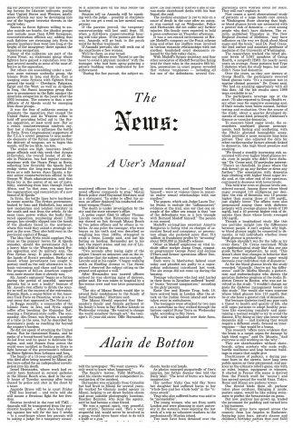 the news a user s manual by alain de botton wamc