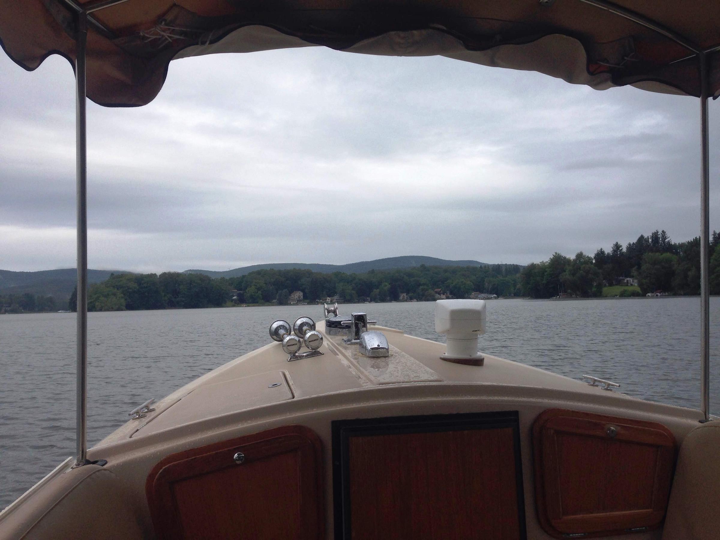 On Board Sheila The Pontoosuc Lake