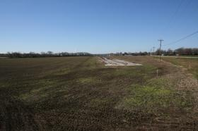 The east end of the old runway at Aretz Field in Lafayette. The city has hired a firm to drill for water south of the runway.