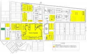 Franciscan St. Elizabeth Health is selling the areas shaded yellow to Columbian Park Redevelopment, LLC.