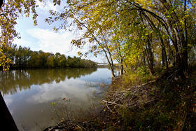 The Wabash River (seen here) doesn't ingest nearly as much pollution as the Ohio River does near Rockport.