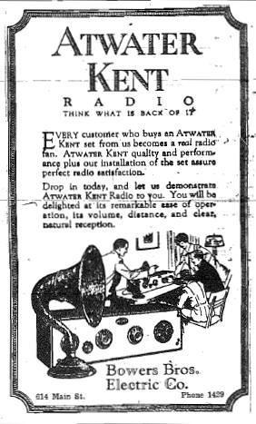 Ad from November 14, 1925 issue of The Purdue Exponent