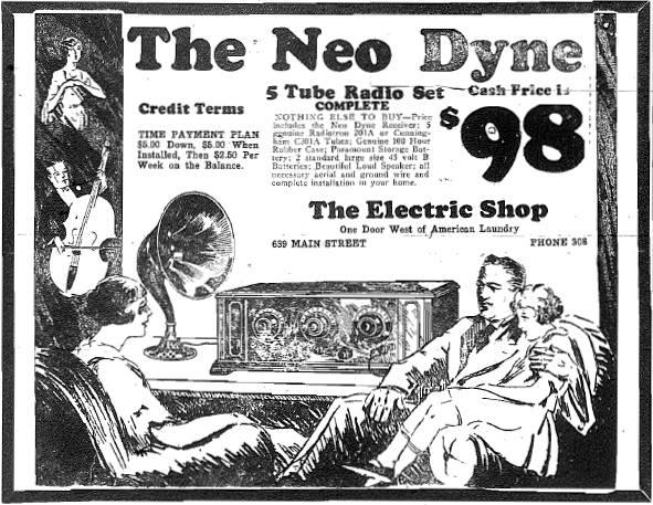 Ad from November 14, 1925 issue of The Purdue Exponent.