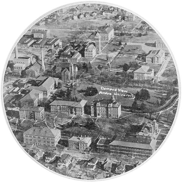 Arial photo of campus circa 1929