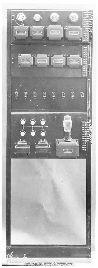 Rear view of amplifier after rebuilding. Circa 1933.