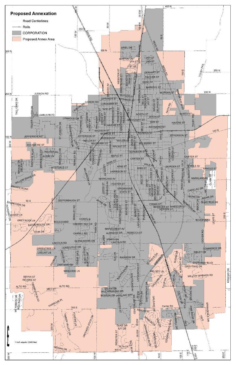 Kokomo annexation map