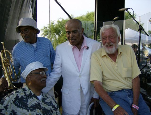 Dan Terry (right) with Clark Terry and Jon Hendricks, Toledo, Ohio, 2007