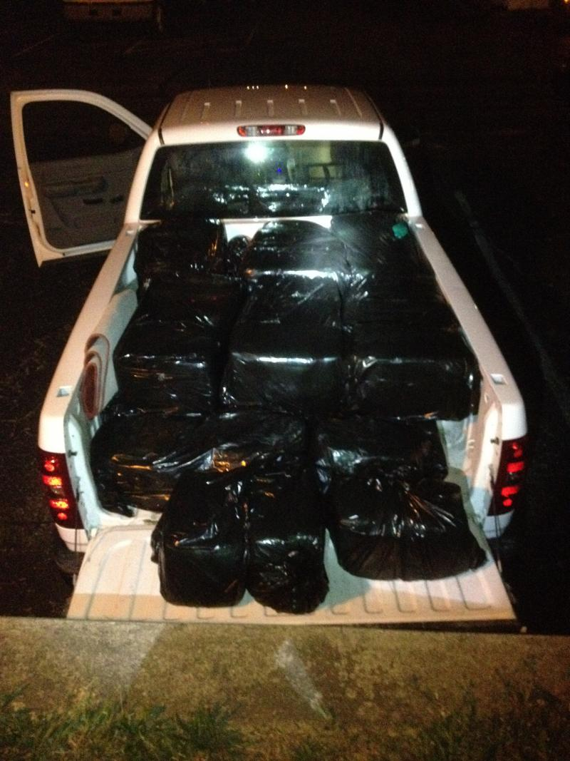 Indiana State Police discovered more than 1,000 pounds of suspected marijuana during a traffic stop on I-65 Monday night in Clinton County.
