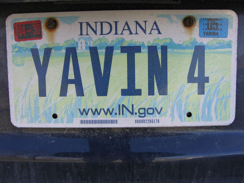 What\'s Old Is New Again On Indiana\'s License Plate | WBAA
