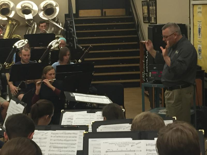 Jay Gephart conducts the Purdue Wind Ensemble