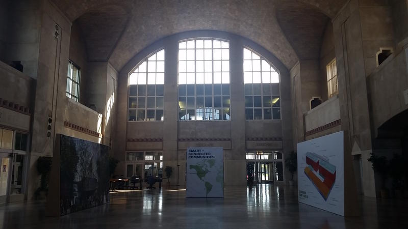 South Bend's Union Station has been transformed into a data center and space for tech start-ups. It'll connect to the neighboring Studebaker project when that's finished.