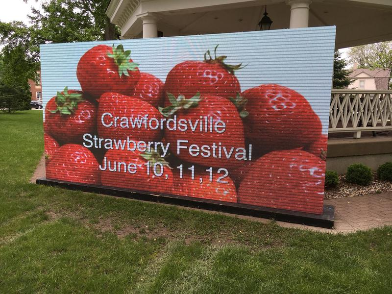 New digital display for the 42nd Annual Crawfordsville Strawberry Festival