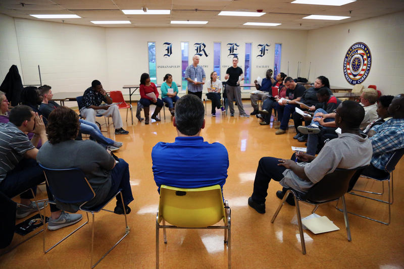 An-Inside-Out class at Indianapolis Re-entry Educational Facility brings college students and incarcerated people together to learn.