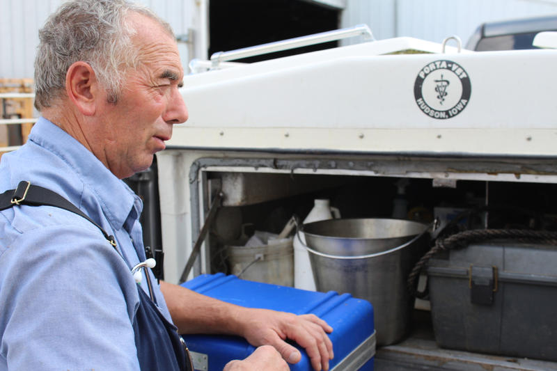 A farm vet has to carry tens of thousands of dollars worth of equipment and medicines to house calls.