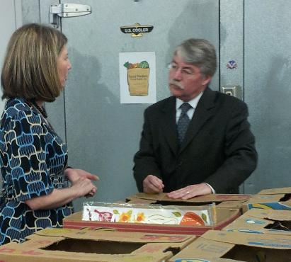 Food Finders Director Katy Bunder meets with Indiana Attorney General Greg Zoeller