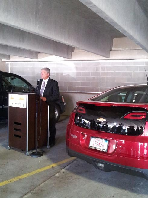 Duke Energy's Kevin Johnston discusses the new electric vehicle parking stations