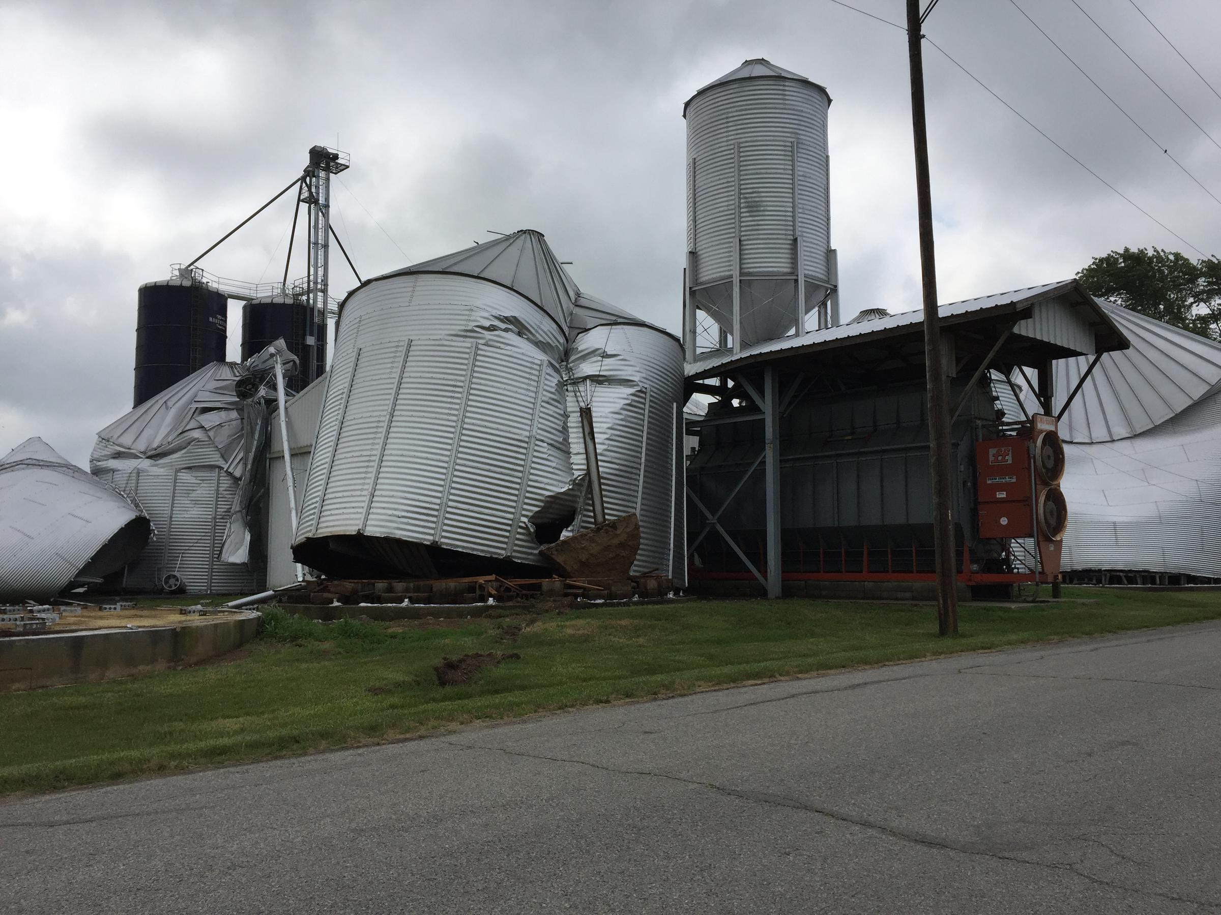 Brookston Residents Cleanup Assess Storm Damage Wbaa