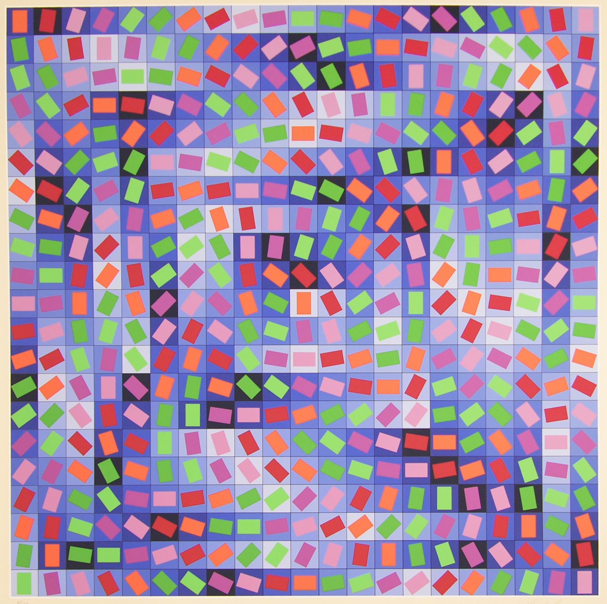 Color printing at purdue - Victor Vasarely Untitled Serigraph Collection Of Purdue University Galleries