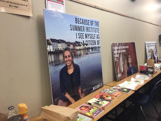 display at Teaching to Change the World Conference