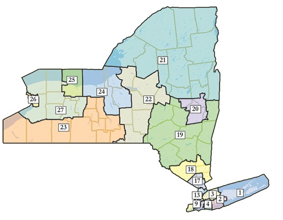 New Congressional Districts Approved In New York  WBFO