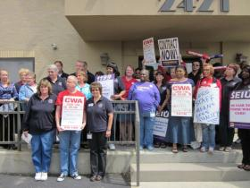 Past worker protests by health care workers
