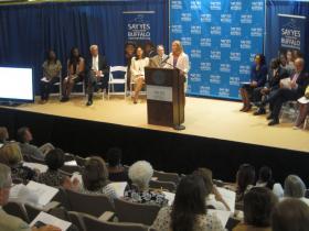 Say Yes President Mary Anne Schmitt-Carey made the announcement in Buffalo Thursday.