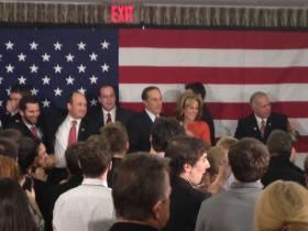 Republican Chris Collins celebrates victory with his wife Mary before GOP in Buffalo