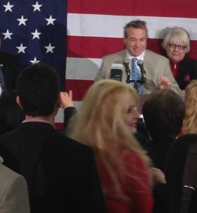 Republican David DiPietro celebrates his victory in the 147th State Assembly District