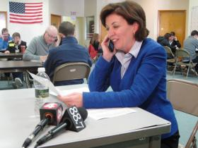 Kathy Hochul works to