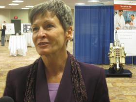 Peggy Whitson, the first woman commander of the International Space Station, was among the speakers at the four-day conference.
