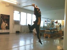 Sergio Neglia reherses the role of Nutcracker