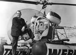 The late Jack Sharpe with his Traffic-copter